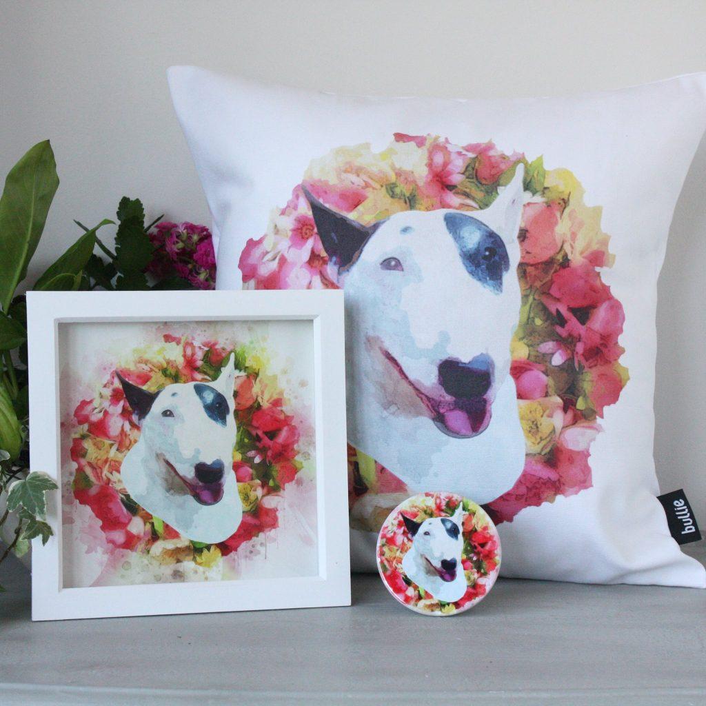 Pet Portrait Cushion, Print and Coaster