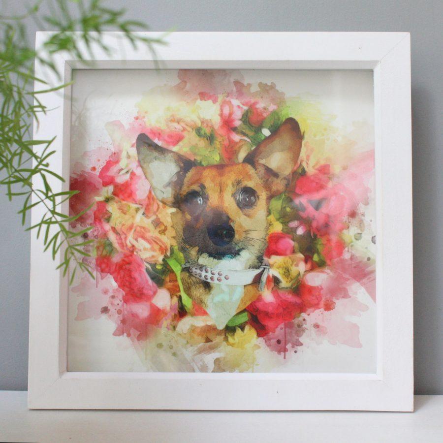 Custom Pet Portrait Of Chihuahua Cross Dachsund Pandora