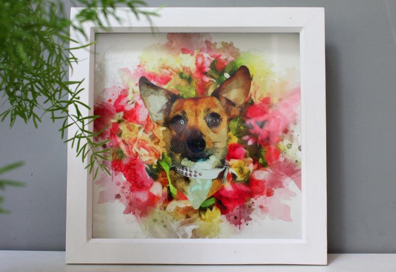 Melanie's Pet Portrait Print