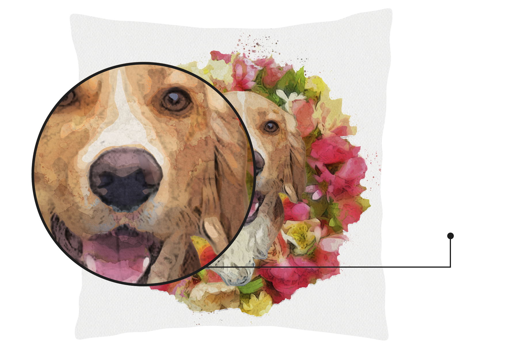 Personalised Cushion Featuring Your Pet