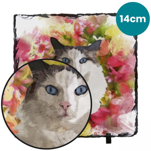 14cm Pet Portrait Photo Gifts Slate
