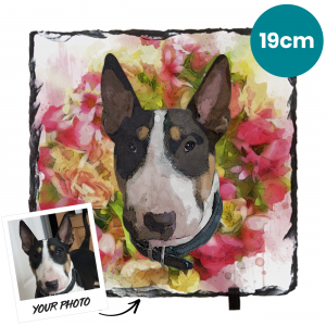 19cm Pet Portrait Photo Gifts Slate