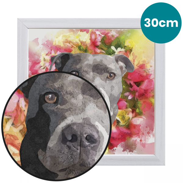 30cm Pet Portrait Fine Art Print