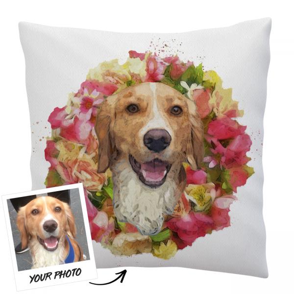 Organic Pet Portrait Cushion Cover