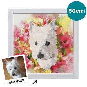 50cm Pet Portrait Fine Art Print