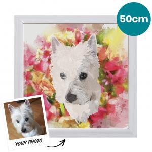 50cm Pet Portrait Fine Art Print