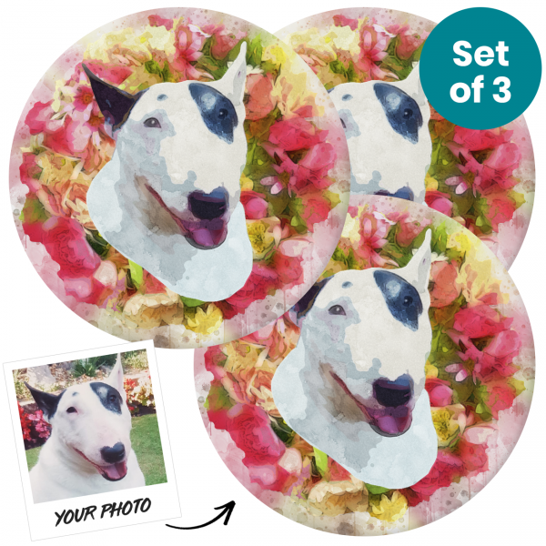 Pet Portrait Personalised Ceramic Coasters