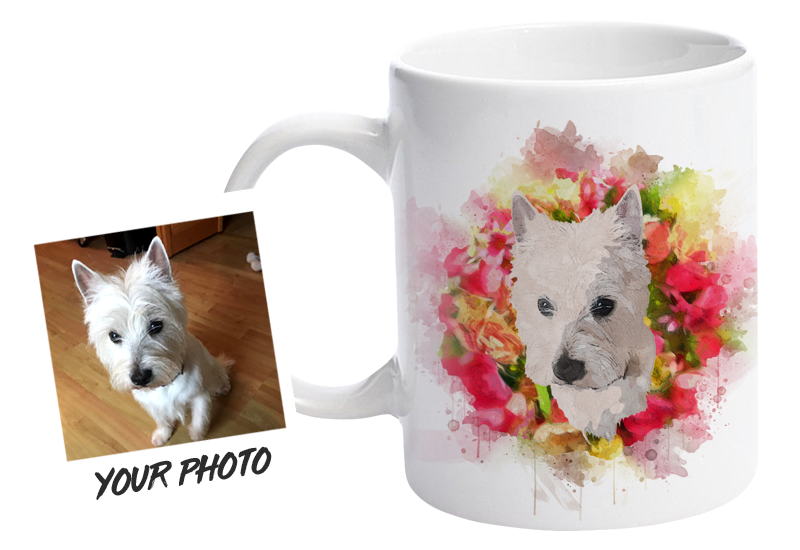 Personalised Mug Featuring Your Pet