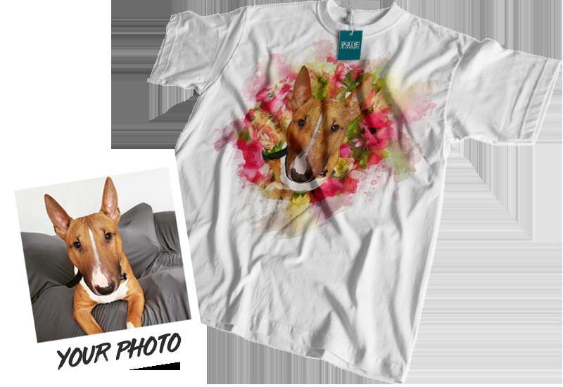 Personalised Pet Portrait T-Shirt