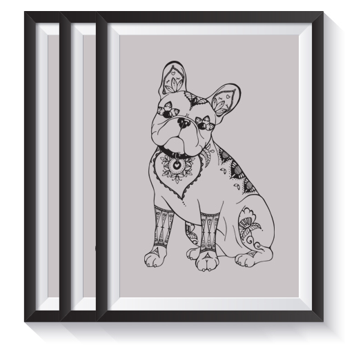 French Bulldog Gifts: Set of 3 Screen Prints