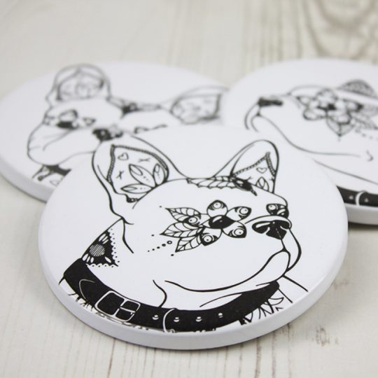 French Bulldog Ceramic Coasters